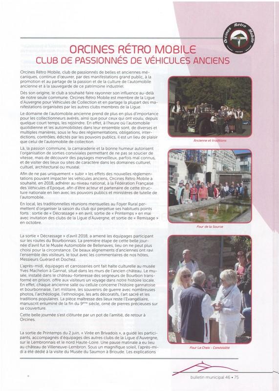 Bulletin municipal orcines janvier 2019 2 kkkk
