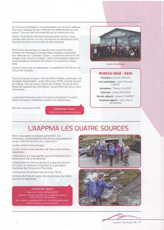 Bulletin municipal orcines janvier 2019 4 ggggggggggggg